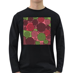 Red and green hypnoses Long Sleeve Dark T-Shirts