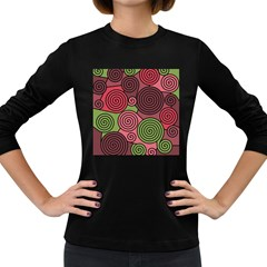Red and green hypnoses Women s Long Sleeve Dark T-Shirts