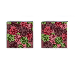 Red and green hypnoses Cufflinks (Square)