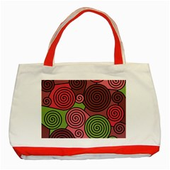 Red and green hypnoses Classic Tote Bag (Red)