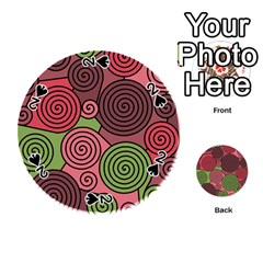 Red and green hypnoses Playing Cards 54 (Round)