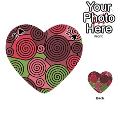Red and green hypnoses Playing Cards 54 (Heart)