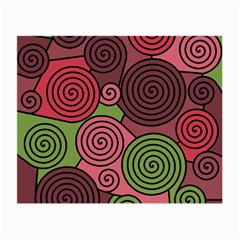 Red and green hypnoses Small Glasses Cloth (2-Side)