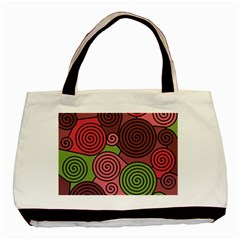 Red and green hypnoses Basic Tote Bag (Two Sides)
