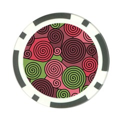 Red and green hypnoses Poker Chip Card Guards