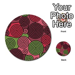 Red and green hypnoses Multi-purpose Cards (Round)