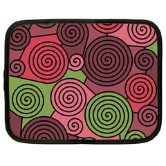 Red and green hypnoses Netbook Case (Large)