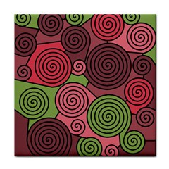 Red and green hypnoses Face Towel