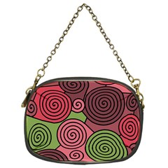 Red and green hypnoses Chain Purses (One Side)