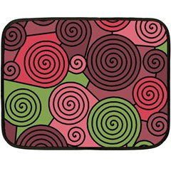 Red and green hypnoses Fleece Blanket (Mini)