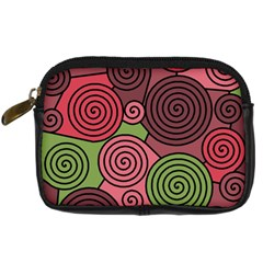 Red and green hypnoses Digital Camera Cases