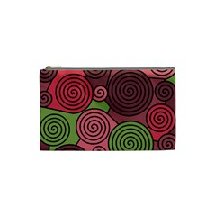 Red and green hypnoses Cosmetic Bag (Small)