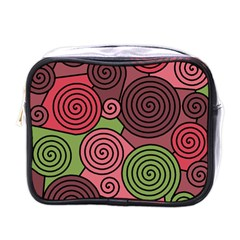 Red and green hypnoses Mini Toiletries Bags