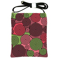 Red and green hypnoses Shoulder Sling Bags
