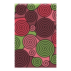 Red and green hypnoses Shower Curtain 48  x 72  (Small)