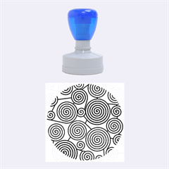 Red And Green Hypnoses Rubber Round Stamps (medium)