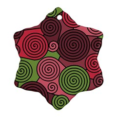 Red and green hypnoses Ornament (Snowflake)