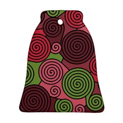 Red and green hypnoses Ornament (Bell)