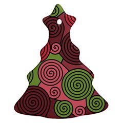 Red and green hypnoses Christmas Tree Ornament (2 Sides)