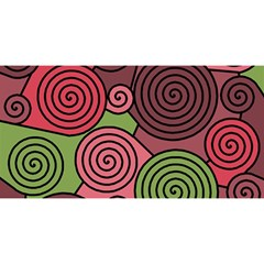 Red and green hypnoses YOU ARE INVITED 3D Greeting Card (8x4)