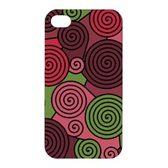 Red and green hypnoses Apple iPhone 4/4S Hardshell Case