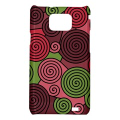 Red and green hypnoses Samsung Galaxy S2 i9100 Hardshell Case