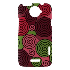 Red and green hypnoses HTC One X Hardshell Case