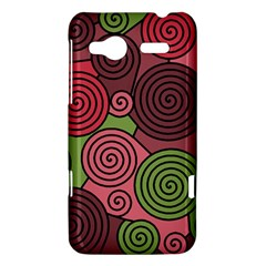 Red and green hypnoses HTC Radar Hardshell Case