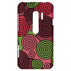 Red and green hypnoses HTC Evo 3D Hardshell Case