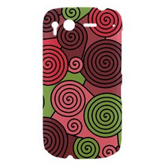 Red and green hypnoses HTC Desire S Hardshell Case