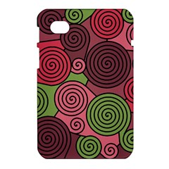 Red and green hypnoses Samsung Galaxy Tab 7  P1000 Hardshell Case