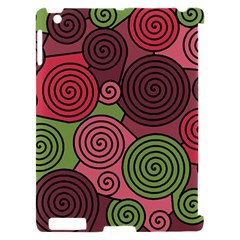 Red and green hypnoses Apple iPad 2 Hardshell Case (Compatible with Smart Cover)