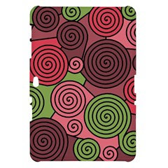 Red and green hypnoses Samsung Galaxy Tab 10.1  P7500 Hardshell Case