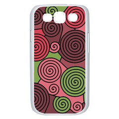 Red and green hypnoses Samsung Galaxy S III Case (White)