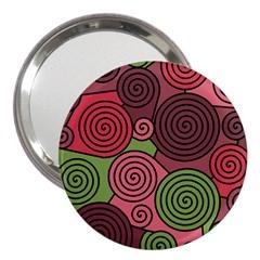 Red and green hypnoses 3  Handbag Mirrors