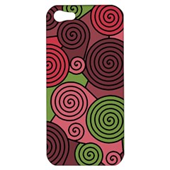 Red and green hypnoses Apple iPhone 5 Hardshell Case
