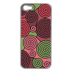 Red and green hypnoses Apple iPhone 5 Case (Silver)