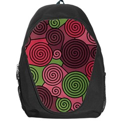 Red and green hypnoses Backpack Bag