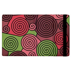 Red and green hypnoses Apple iPad 3/4 Flip Case