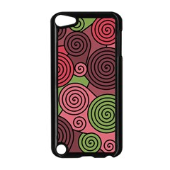 Red and green hypnoses Apple iPod Touch 5 Case (Black)
