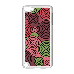 Red and green hypnoses Apple iPod Touch 5 Case (White)