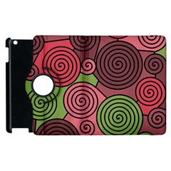 Red and green hypnoses Apple iPad 2 Flip 360 Case
