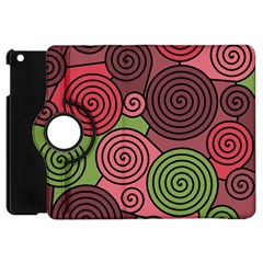 Red and green hypnoses Apple iPad Mini Flip 360 Case