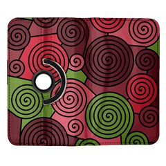 Red and green hypnoses Samsung Galaxy Note II Flip 360 Case