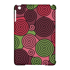 Red and green hypnoses Apple iPad Mini Hardshell Case (Compatible with Smart Cover)
