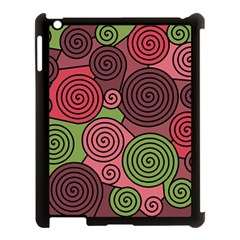 Red and green hypnoses Apple iPad 3/4 Case (Black)