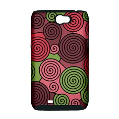 Red and green hypnoses Samsung Galaxy Note 2 Hardshell Case (PC+Silicone)