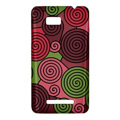 Red and green hypnoses HTC One SU T528W Hardshell Case