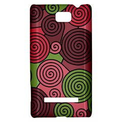 Red and green hypnoses HTC 8S Hardshell Case