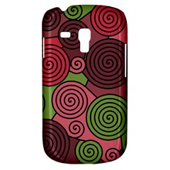 Red and green hypnoses Samsung Galaxy S3 MINI I8190 Hardshell Case